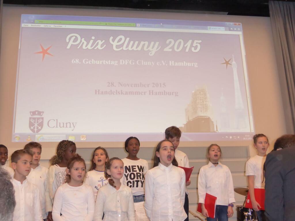 Die musikalische Begrüßung übernahmen die Kinder des Grundschulchores des Lycée François Saint-Exupéry unter der Leitung von Rémi Laversanne.