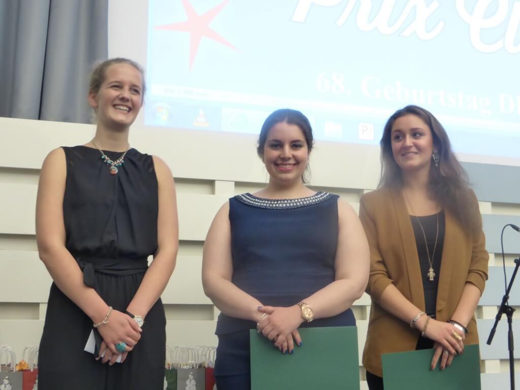 Die Preisträgerinnen Leni Jastram, Jessica Schmaus und Chiara Pignatelli