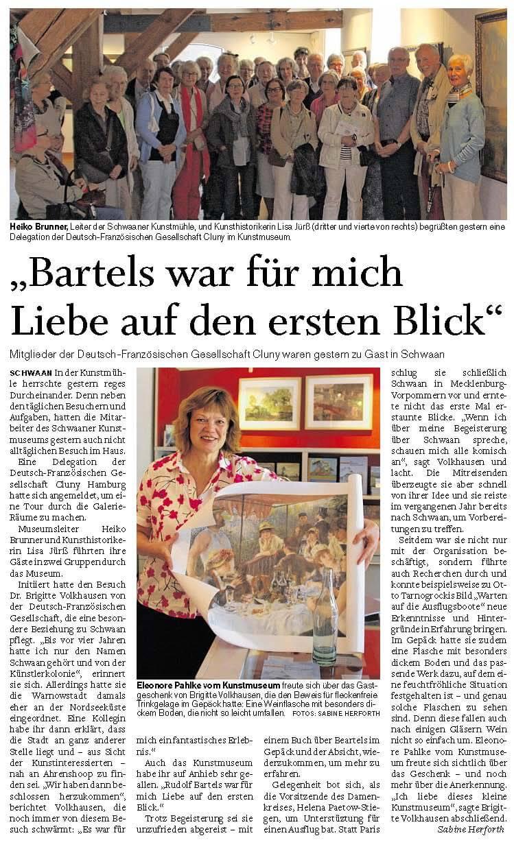 20160612 SVZ Bartels war Liebe auf den ersten Blick, Brigit Volkhausen