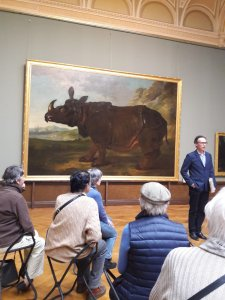 Clara, Rhinocéros von Jean-Baptiste Oudry im Staatlichen Museum Schwerin