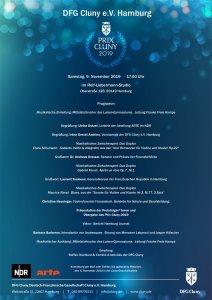 EINLADUNG PRIX CLUNY FEIER 2019